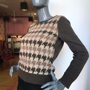 A.P.C. Lambswool Patterned Crewneck Sweater EUC/ M